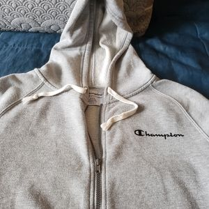 Champion Men's Gray Zip Up Sweatshirt Pullover